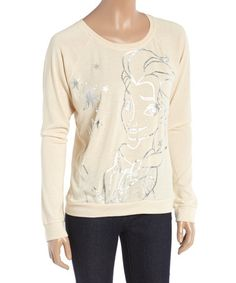 Another great find on #zulily! Ivory Elsa Pullover - Juniors by Frozen #zulilyfinds