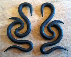 Pair of 2g (2 gauge) DRAGON Spiral Plug Earrings - Tapers. $14.00, via Etsy.