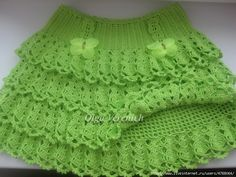 Green Skirt free crochet graph pattern