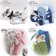 Sewing PATTERN - Teddy/Owl/Doorstop/Elephant/Scottie Dog/Mouse/Cat -templates