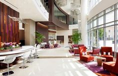 Courtyard and Residence Inn L.A. LIVE Lobby