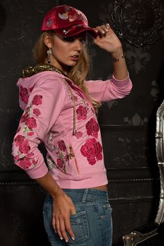 Triumph of Archangel Glam Rock Cool Pink Women Hoodie sold by Charles King Paris. Shop more products from Charles King Paris on Storenvy, the home of independent small businesses all over the world. Caps For Women, T Shirts For Women, Unique Hoodies, Rock Outfits, Glam Rock, Velvet, Rock Clothing, Women Hat