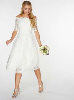 **Ivory 'Bella' Wedding Dress - Wedding Dresses - Dresses - Dorothy Perkins
