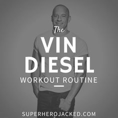 Vin Diesel Workout Routine and Diet Plan: Train like Dominic Toretto 3 Day Workout Routine, Beast Workout, Workout Schedule, Vin Diesel Workout, Hero Workouts, Fitness Workouts, Fitness Pal, Fitness Routines, Workout Exercises