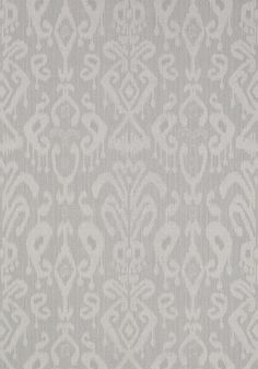 Bravado Ikat #wallpaper in #smoke from the Neutral Resource collection. #Thibaut