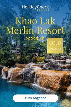 Erlebe deinen Thailand-Traum in diesem Bestseller-Hotel, Khao Lak Merlin Resort. In diesem 4-Sterne-Hotel finden Wellness & Hochzeitsreisende, Badeurlauber und die Familie alles was das Herz begehrt. Das Designhotel liegt direkt am Strand, bietet besten Service und ein tolles Freizeitangebot. 4 Pools, Tauchen und Ausflüge. Hier steht deinem perfekten Urlaub nichts mehr im Wege. Ausgezeichnet mit dem HolidayCheck Gold-Award und einer 96%igen Weiterempfehlung.  #thailand #bestseller… Design Hotel, Merlin, Thailand, Khao Lak, Resorts, Sunsets, Best Sellers, Diving, Beach