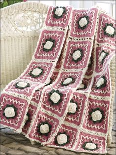 Camellia Beauty Afghan FREE crochet pattern download. Find this pattern at FreePatterns.com.