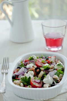 Cannellini Bean Salad with Olives and Ricotta