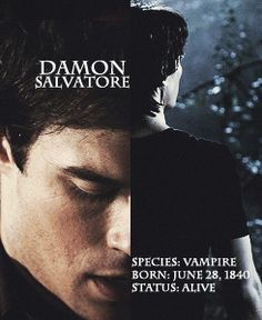 Day 1: favorite male character. Damon Salvatore. Because he has always protected Elena, and just wants what's best for her. His story is sad and he always powers through the day.