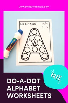 These free Do-A-Dot Alphabet Printables are exactly what you need for teaching your toddlers and preschoolers the letters of the alphabet. These worksheets are for practicing letter recognition. They are fun and engaging and no prep. This letter activity is perfect for as a literacy center and can be used both at home and in the classroom. Printable Alphabet Worksheets, Fun Worksheets, Alphabet Activities, Literacy Activities, Preschool Learning, Learning Resources, Teacher Resources, Educational Activities For Kids, Indoor Activities For Kids