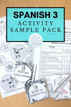 Spanish 3 is a really fun subject to teach for high school teachers because you get to further students' mastery of the Spanish language. To push students' fluency in this foreign language and engage them in the lessons, a variety of activities is often necessary. This Spanish 3 Activity Sample Pack is a bundle of 10 resources created for secondary Spanish classes. There are review games, Spanish grammar practice, Spanish speaking activities, and more. Click through to get more information! Spanish Activities, Hands On Activities, Learning Spanish, Spanish Games, Reading Activities, Fun Learning Games, Class Games, Study Spanish, How To Speak Spanish