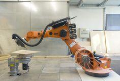 """Robotic Fabrication"" (Photography by ICD/ITKE University of Stuttgart)"