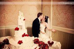 Christmas Walt Disney World Wedding - Disney wedding cake