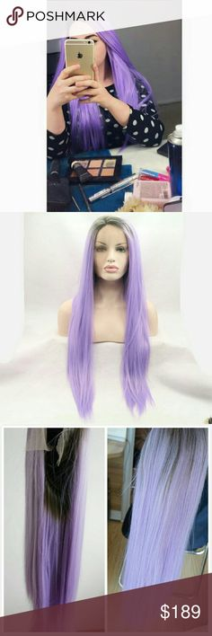 Ombre Purple Beauty Lacefront Wig Half Hand Tied Lace Front Wig with Lace 2.5 Inches Parting Space in Front Synthetic Hair Heat Resistant up to 160 Degrees Centigrade (320 Degrees Fahrenheit) Length as pictured , Straight , Color as Pictured (Kind Reminder: Slightly Color Difference between Different Monitors) Circumference 22.5 Inches Stretched Medium Cap (Average Cap Size) with Adjustable Straps and 3 Combs Accessories Hair Accessories