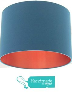 Handmade Teal Brushed Copper Lined Lampshade Lightshade Statement from Little Red Robin Co https://www.amazon.co.uk/dp/B01MU68DGR/ref=hnd_sw_r_pi_awdo_lSYFybZMX7CS7 #handmadeatamazon