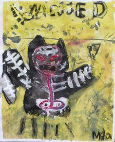 Doodlebug Dabblings: Jean-Michel Basquiat inspired mixed media