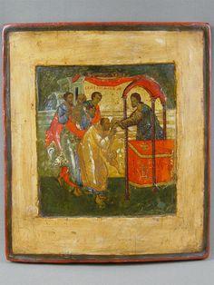 Антиквариат. антикварная Икона «Евхаристия». старинные иконы, XVIвек