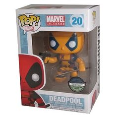 POP! Heroes Marvel Deadpool Orange & Blue Variant Figure