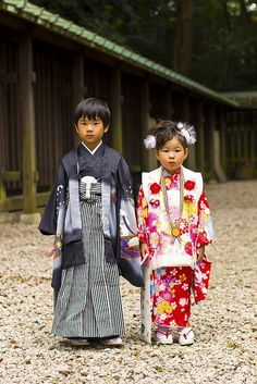 Kimono Kids at Japanese Wedding Festival - 七五三