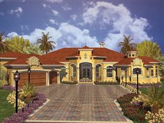 southwestern homes | Key West Spanish Style Home Plan 106S-0012 | House Plans and More
