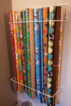 Wrapping paper organization by Alejandra Costello