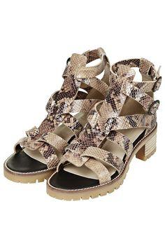 FREEDOM Snake-Effect Premium Sandals - £59