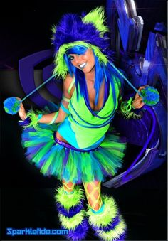 outfit for life in color.... I'm so going to do this for Halloween one year!!