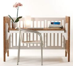 Love this convertable crib (american made) by Gro Furniture!