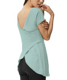 Love this Seafoam Marl Organic V-Neck Top by Blue Canoe on #zulily, $30 !!  #zulilyfinds