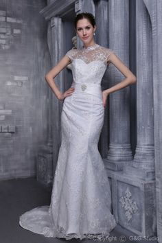 lace wedding  dress        Selling Like Hot Cakes Crystals Lace Ruched White Wedding Dresses