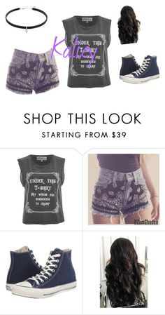 """""""Kaliey's"""" by millenrocks ❤ liked on Polyvore featuring Wildfox, Converse and Quotev"""