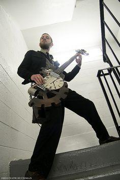 Steampunk bass guitar, it's that epic.