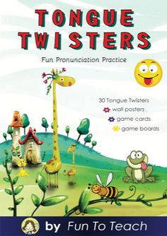 Tongue Twisters Sample Freebie Tongue Twisters Pronunciation Made Fun! This sample freebie from our full Tongue Twister pack pronunciation unit has everything you need to sample what our full pack offers to teach students the correct pronunciation n English Language Learners, Language Arts, Tongue Twisters, English Lessons, English Idioms, English Study, Second Language, Teaching Materials, Teaching English