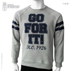 Urban Sudadera Unisex GO FOR IT T.14/15 Real Oviedo, Graphic Sweatshirt, Urban, Unisex, Sweatshirts, Sweaters, Collection, Fashion, Shopping