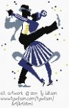Free and good quality counted cross stitch patterns to print. Cross Stitch Music, Counted Cross Stitch Patterns, Black Dancers, Couple Fun, Wilson Art, Lindy Hop, Fun Music, African Beauty, Christmas Snowman