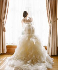 Dress/Bride Picture. Showing Ruffles to Maximum Effect.