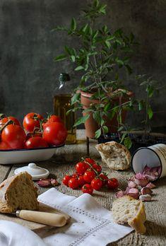 Sabores y Momentos | Salmorejo tradicional y con remolacha {en vasitos} | http://saboresymomentos.es