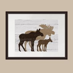 Brown Moose Wall Art
