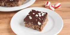 Chocolate-Peppermint Crunch Bars: Layers of melted chocolate and crushed peppermint candy brighten up these crisp and chewy bars.