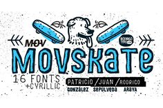 MOVSKATE+Cyrillic Font -60%  by Rodrigo Typo on @creativemarket