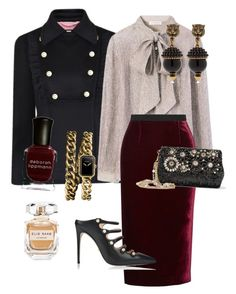 """Untitled #159"" by sh-66-sh on Polyvore featuring Gucci, Tory Burch, Roland Mouret, Dolce&Gabbana, Chanel, Deborah Lippmann and Elie Saab"