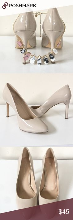 "Offers Welcome // BCBG Patent Nude Heels Details: Great condition (worn once)! BCBG nude patent heels in size 7.5. Retails $90. Heel height is around 2.5"".   Kate Harrington Boutique does not trade or negotiate price in the comment section. However, for most items we may consider reasonable offers.   Happy Poshing! Nine West Shoes"