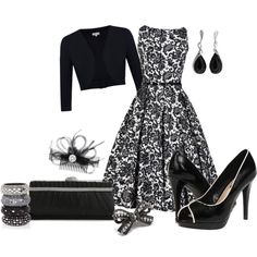 Easy Black and White by laaudra-rasco on Polyvore