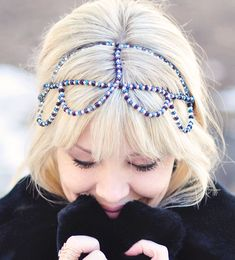 diy beaded crown headband