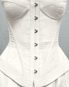 "Colette Komm ""Signature"" ivory silk-taffeta boned corset"