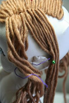 Added August 2012:  For more in-depth instructions on doll hairstyles, a step-by-step tutorial (and templates) for embroidering eyes and fa...