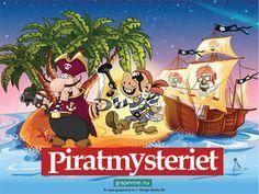 """Skattjakt: Piratmysteriet 4-6 årPirater  är ett populärt tema för barnkalas! Vår piratskattjakt """"gör""""  barnkalaset och är den enda aktivitet som behövs! Piratkaptenen  Tveskäggs värsta fiende, den grymme kapten Svartskägg, är ute efter hans  fantastiska sjörövarskatt!"""