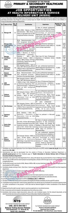 Title Of   Job         Detail of   Job            Name Of Job         Primary & Secondary Health Care Department      ...