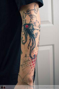 jellyfish robot tattoo by RemiisMeltingDots.deviantart.com on @DeviantArt