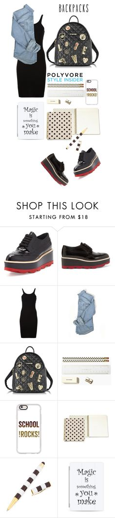 """""""School rocks"""" by mood-chic ❤ liked on Polyvore featuring Prada, T By Alexander Wang, Love Moschino, Kate Spade, Casetify, Henri Bendel, backpacks, contestentry and PVStyleInsiderContest"""